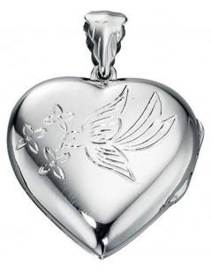 Mon-bijou - D3145 - Collier pendentif photo coeur en argent 925/1000