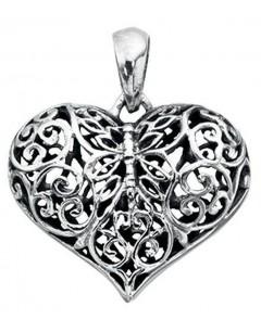 Mon-bijou - D3313 - Collier coeur en argent 925/1000