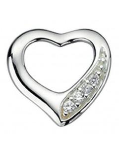 Mon-bijou - D3505 -Collier coeur en argent 925/1000