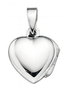 Collier pendentif photo coeur en argent 925/1000