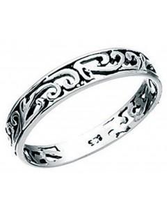 Bague anneau celte en argent 925/1000