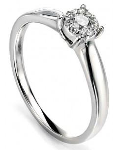 Mon-bijou - D425 - Bague Diamant 0,173 carat en Or blanc 375/1000 carat