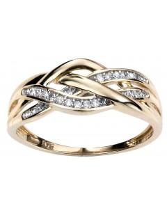 Mon-bijou - D377 - Bague diamant 0,10 carat en or 375/1000 carat