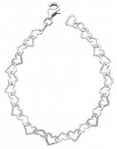 Mon-bijou - D4323 - Bracelet coeur en argent 925/1000