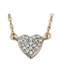 Collier diamant en Or 14 carat
