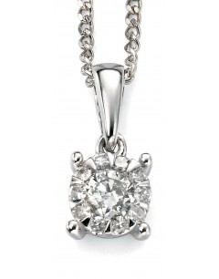Collier diamant en Or blanc 375/1000 carats