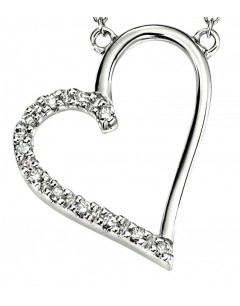 Collier coeur diamant en Or 375/1000 carats