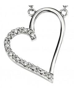 Collier coeur diamant en Or 375/1000 carats