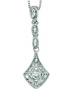 Collier diamant en Or blanc 375/1000 carats