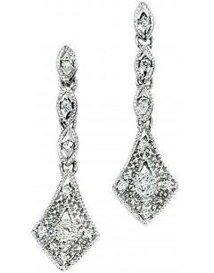 Boucle d'oreille diamant en Or blanc 375/1000