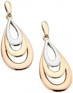 Boucle d'oreille Original en Or blanc et Or rose, Or 375/1000