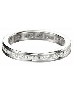 Mon-bijou - D2783 - Bague anneau zirconium en argent 925/1000