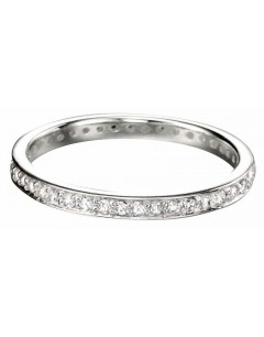 Mon-bijou - D2784 - Bague anneau zirconium en argent 925/1000