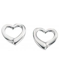 Mon-bijou - D2102 - Boucle d'oreille coeur en argent 925/1000