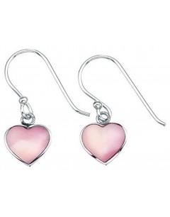 Mon-bijou - D2415p - Boucle d'oreille coeur en argent 925/1000