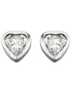 Mon-bijou - D2921c - Boucle d'oreille coeur en argent 925/1000