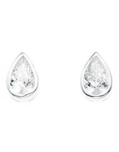 Mon-bijou - D2929c - Boucle d'oreille zirconia en argent 925/1000