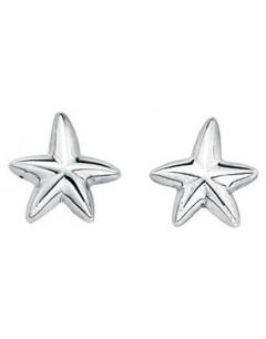 Mon-bijou - D3199a - Boucle d'oreille étoiles de mer en argent 925/1000