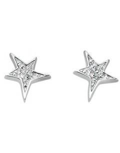 Mon-bijou - D3424c - Boucle d'oreille étoiles en argent 925/1000