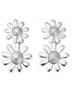 Mon-bijou - D3428 - Boucle d'oreille fleur en argent 925/1000