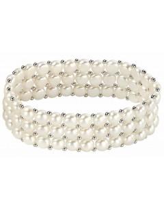 Mon-bijou - D3204 - Bracelet tendance perle d'eau douce en argent 925/1000