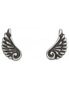 Mon-bijou - D927w - Boucle d'oreille aile d'ange en argent 925/1000