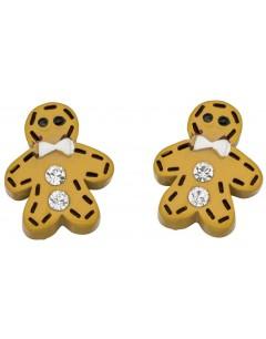 Mon-bijou - D930m - Boucle d'oreille homme biscuit en argent 925/1000