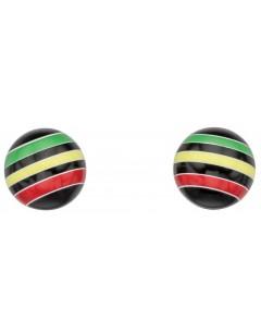 Mon-bijou - D932p - Boucle d'oreille multicolore en argent 925/1000