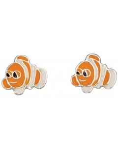 Mon-bijou - D940p - Boucle d'oreille poisson dessin animé en argent 925/1000