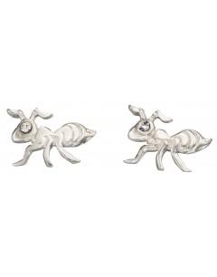 Mon-bijou - D950t - Boucle d'oreille fourmi en argent 925/1000