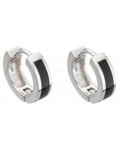 Mon-bijou - D5012 - Boucle d'oreille Onyx en argent 925/1000