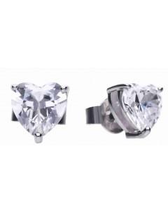 Mon-bijou - D5585 - Boucle d'oreille cœur en argent 925/1000