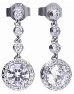 Mon-bijou - D5588 - Boucle d'oreille tendance en argent 925/1000