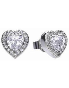 Mon-bijou - D5589 - Boucle d'oreille cœur en argent 925/1000