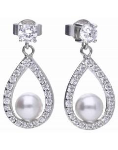 Mon-bijou - D5597 - Boucle d'oreille perle en argent 925/1000
