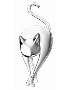 Mon-bijou - D351 - Broche chat en argent 925/1000