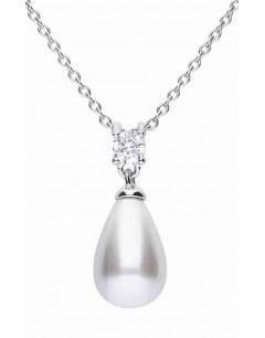 Mon-bijou - D4238 - Collier perle tendance en argent 925/1000