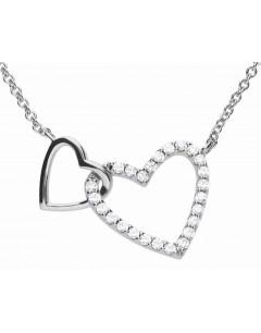 Mon-bijou - D4249 - Collier coeur entrelacé en argent 925/1000