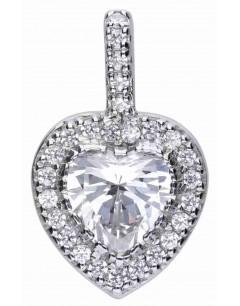 Mon-bijou - D4616 - Collier original coeur en argent 925/1000