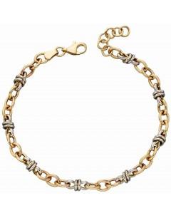 Mon-bijou - D468a - Bracelet original Or blanc et Or jaune 375/1000
