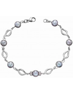 Mon-bijou - D474 - Bracelet original en perle et Or blanc 375/1000