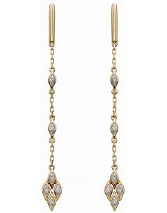 Mon-bijou - D2277 - Boucle d'oreille tendance diamant en Or 375/1000