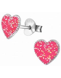 Mon-bijou - H35739 - Boucle d'oreille coeur en argent 925/1000