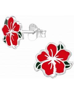 Mon-bijou - H39288 - Boucle d'oreille rose en argent 925/1000