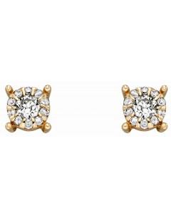 Mon-bijou - D2289 - Boucle d'oreille diamant en Or 375/1000