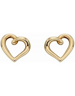 Mon-bijou - D2293 - Boucle d'oreille coeur en Or 375/1000