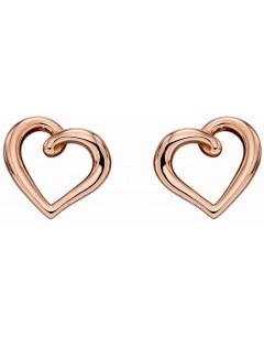 Bon-bijou - D2294 - Boucle d'oreille coeur Or rose 375/1000