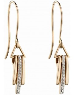 Mon-bijou - D2300 - Boucle d'oreille original diamant en Or 375/1000