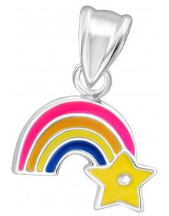 Mon-bijou - D11771 - Collier Arc en Ciel pour Petite Fille en Argent 925/1000