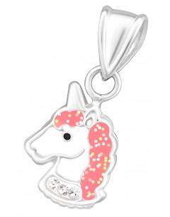 Mon-bijou - D34043 - Collier Licorne pour Petite Fille en Argent 925/1000
